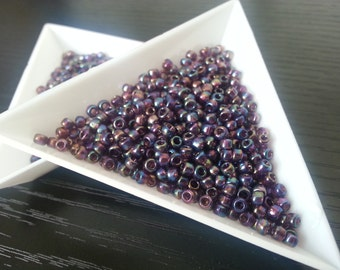 Toho Size 8/0 Trans-Rainbow Amethyst [TR-08-166C] Round Seed Beads 7g/15g/20g Japanese Seed Beads size 3mm
