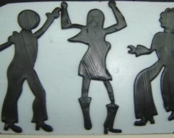 Set of 3 Disco Dancers Cutter