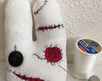 Zombie/Hurt Bunny Plush