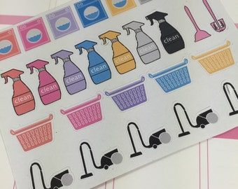 NEW! Cleaning Supplies Kit Planner Stickers!