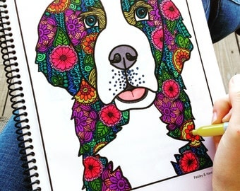 Animal Adult Coloring Book- Handdrawn Coloring Book