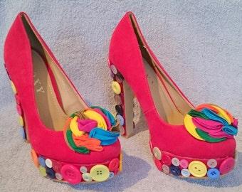 Button Design Handmade Shoes Size 5