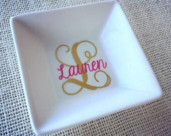 Ring Holder, Personalized Ring Dish, Monogram Ring Holder, Ring Dish, Monogrammed Ring Dish, Engagement Gift, Jewelry Holder, Wedding Gift