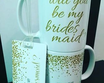 Will you be my Bridesmaid? luggage tags (custom tags also available)