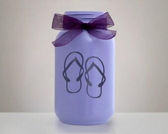 Flip Flop Mason Jar