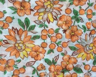 1930s Floral Print Dress Fabric, Yardage