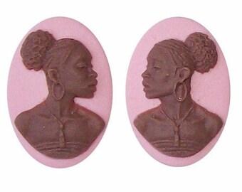 Pink Natural African Beauty Stud Earrings