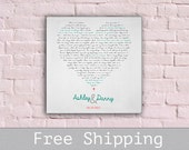 First Dance Song Canvas - Song Lyrics - Wedding Vows - 1st Anniversary Gift  - Wall Decor - First Anniversary Gift - Free Shipping