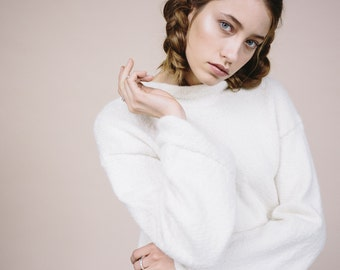 50% off-sale LONG SLEEVES JUMPER white ivory