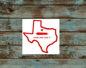 Texas Outline Decal~Come and Take It Sticker~Gun Rights~Vinyl Decals~Car, Truck, Window