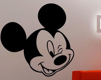 mouse wall sticker etsy. Black Bedroom Furniture Sets. Home Design Ideas