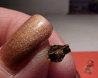 14K gold Cz Stud earrings .5 carat each