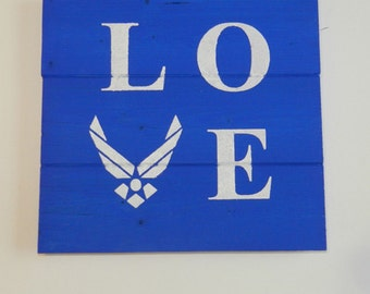Air Force Love Wood Sign