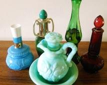 SALE Collectible Avon Bottles Avon Perfume Decanters Avon Bud Vases Avon Jadeite Pitcher Genie Bottle Avon Perfume Bottles Avon Collectibles