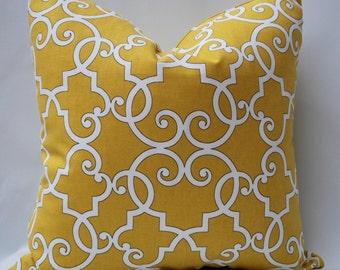 Yellow Geometric Pillow Decorative Pillow