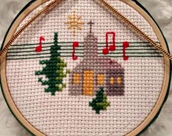 Cross stitch ornament,ornament,cross stitch, holiday ornament,Christmas ornament,Christmas decor,winter decor,holiday decor