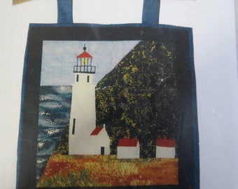 Quilt Pattern - Collectible Lighthouse Quilts - Foundation pieced - Heceta Head Lighthouse Florence Oregon - E5