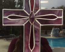 Prince of Peace Stained Glass Cross