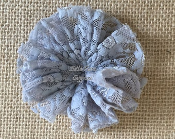 Gray Lace Ballerina Flowers, Lace Flowers- 3 inch, Wholesale, DIY, Lace Headband