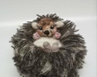 Needle felt hedgehog, Hedgehog gift, 100% wool, Hedgehog,Baby Hedgehog