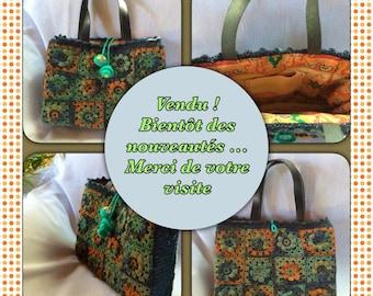 Crochet granny handbag