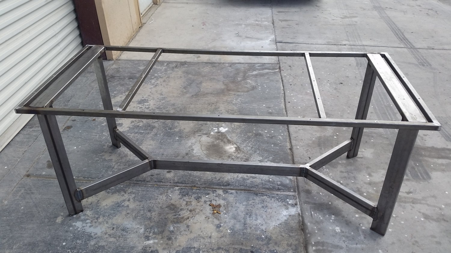 steel table frame welded frame rustic table frame industrial table frame custom table frame steel frame custom furniture rustic furniture