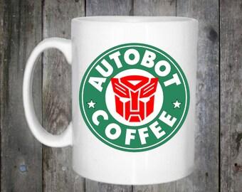 Transformers Autobot Optimus Prime Starbucks Inspired Coffee Mug 10oz
