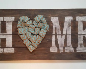 Home Rustic Sign, Wood Wall Art