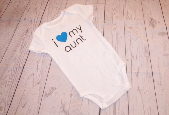 I Love My Aunt Shirt/Bodysuit, baby boy shirt, baby girl shirt, i love my aunt toddler shirt, birthday gift, baby shower gift