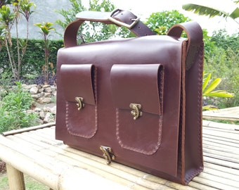 Satchel // Dark Brown Satchel // Leather Satchel // Leather Bag // Brown Satchel // Brown Leather Bag // Professional Leather Bag