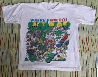 Vintage 1990 Wheres Waldo T-shirt, Small