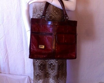 MARC CHANTAL Leather HandBag from the 80ies / MARC Chantal handbag leather of the 1980s