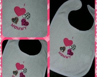 I Love Love Love Love Mommy Bib