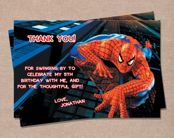 Spiderman Inspired Thank You Card