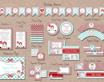 Raggedy Ann Birthday Party Package - Birthday Package - Printable Raggedy Ann Birthday Party Package