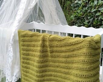 100% Alpaca baby blanket. Holy lines