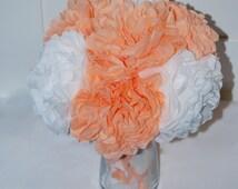 Wedding table decor, orange flowers, white flowers, wedding centerpiece, wedding decorations, nursery decor, wedding flowers