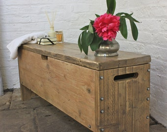 Millar Reclaimed Scaffolding Board Storage Bench / Bedding Box / Toy Box - Made to Measure Furniture by www.urbangrain.co.uk