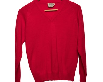Vintage Red Sweater Russel Acrylic