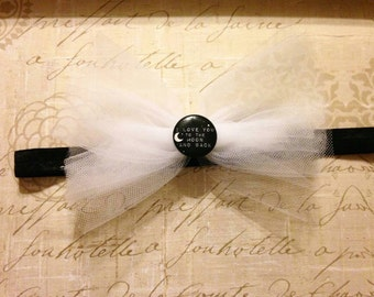 A Black&White Tulle Headband For A Princess