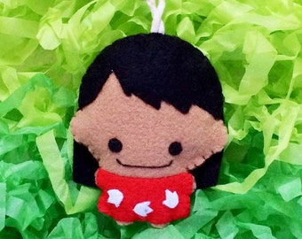 Lilo and Stitch's Little Lilo Felt Doll Keychain