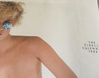 Vintage Pirelli Callendar. 1986. Topless classic