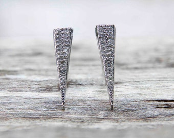Passion Diamond Spike Stud Earrings