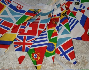 World Flags Bunting, Rugby World Cup, International sports party