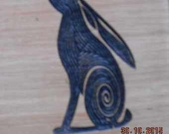 Stoned Hare Lined Carved