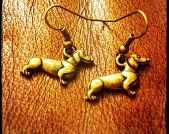 Adorable dachshund sausage dog earrings