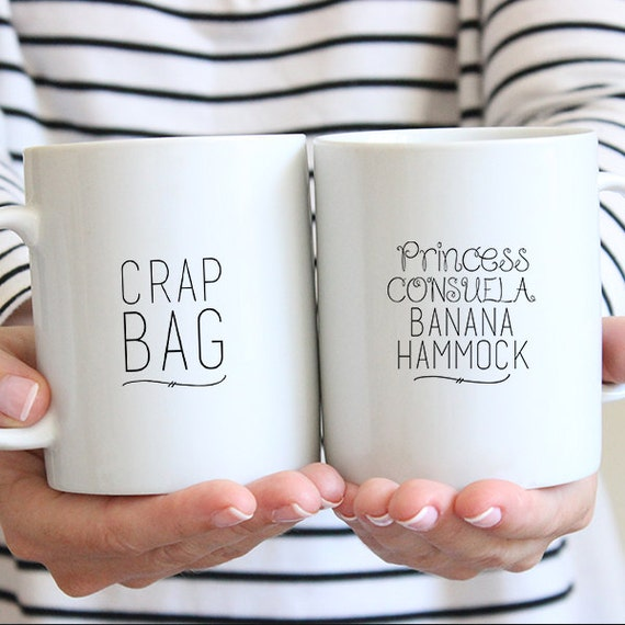 Crap Bag & Princess Consuela Banana Hammock Coffee Mug Set
