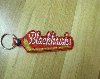 Chicago Blackhawks Hockey Key Fob