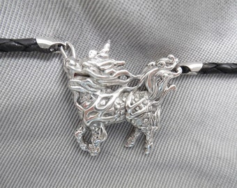 Sterling Silver Chi Lin (Chinese Unicorn) Pendant