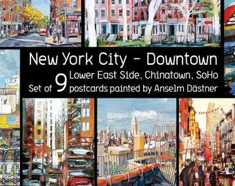 "set of 9 large postcards (6.5 x 4.5"")"